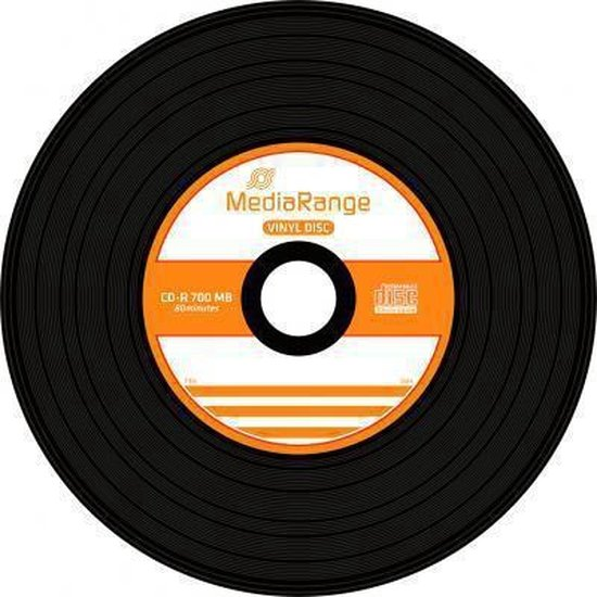 CD-R MediaRange 700MB 50pcs Spindel grammofoonplaatOptik bk