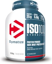 Dymatize ISO-100 Hydrolyzed - Eiwitpoeder / Eiwitshake - 2200 gram - Aardbei