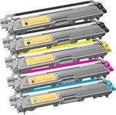 Toner cartridge / Alternatief pakket 5 toner TN241/TN245 | Brother dcp-9015cdw, dcp-9020cdw, hl-3140cn, mf-9130cw, hl-3170cdw