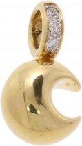 Verlinden Juwelier - Hanger - Geel gouden  met vijf diamanten - 14 karaat - 2,6 gr goud