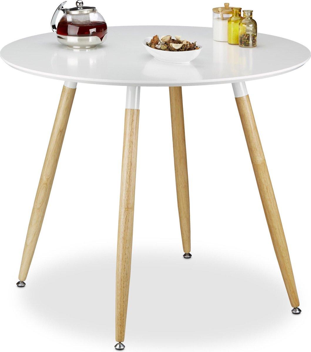 Wonderlijk bol.com   relaxdays - eettafel rond - eetkamertafel - eetkamer DH-17