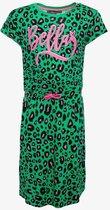 TwoDay meisjes jurk met luipaardprint - Groen - Maat 134/140