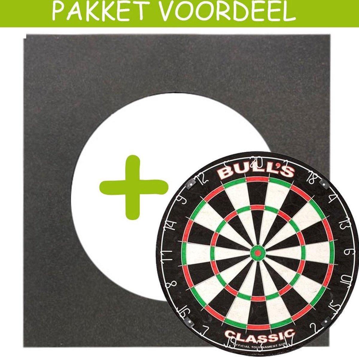 Dartbord VoordeelPakket Basic - Bulls Classic - Vierkant-