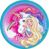 AMSCAN - 8 kartonnen bordjes Barbie Dreamtopia - Decoratie > Borden