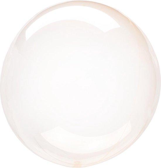 Anagram Folieballon Clearz Petite Crystal 30 Cm Transparant Oranje
