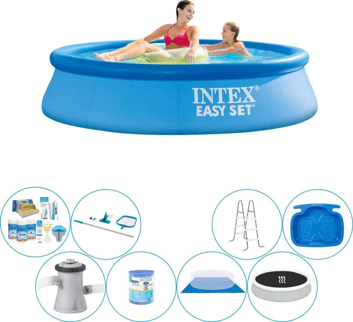Intex Easy Set Rond 244x61 cm - Deluxe Zwembad Set