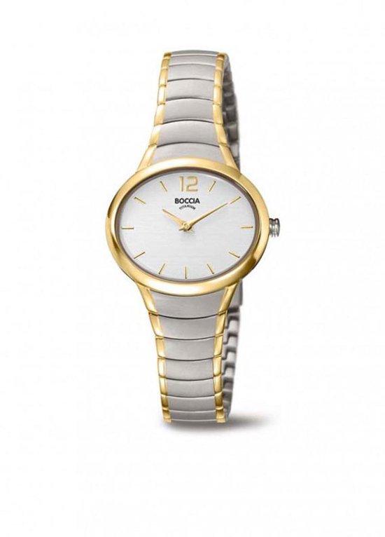 Boccia Titanium 3280.03 horloge – Titanium – Zilver en goudkleurig – Ø 30