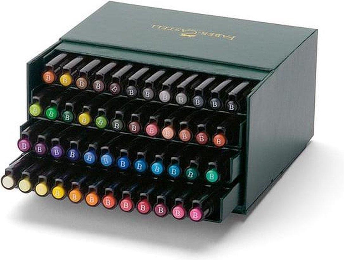Faber Castell tekenstift Pitt Artist Pen Brush 48-delig Studiobox - Faber-Castell