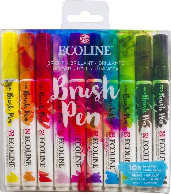 Afbeelding van Talens Ecoline Brush Pen - 10 stuks - Helder - Brushpen speelgoed