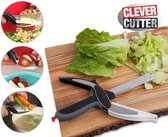 Smart Clever Cutter 2 in 1 Snijplank & Mes - RVS