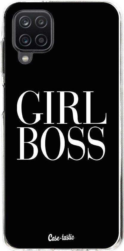 Casetastic Samsung Galaxy A12 (2021) Hoesje - Softcover Hoesje met Design - Girl Boss Print