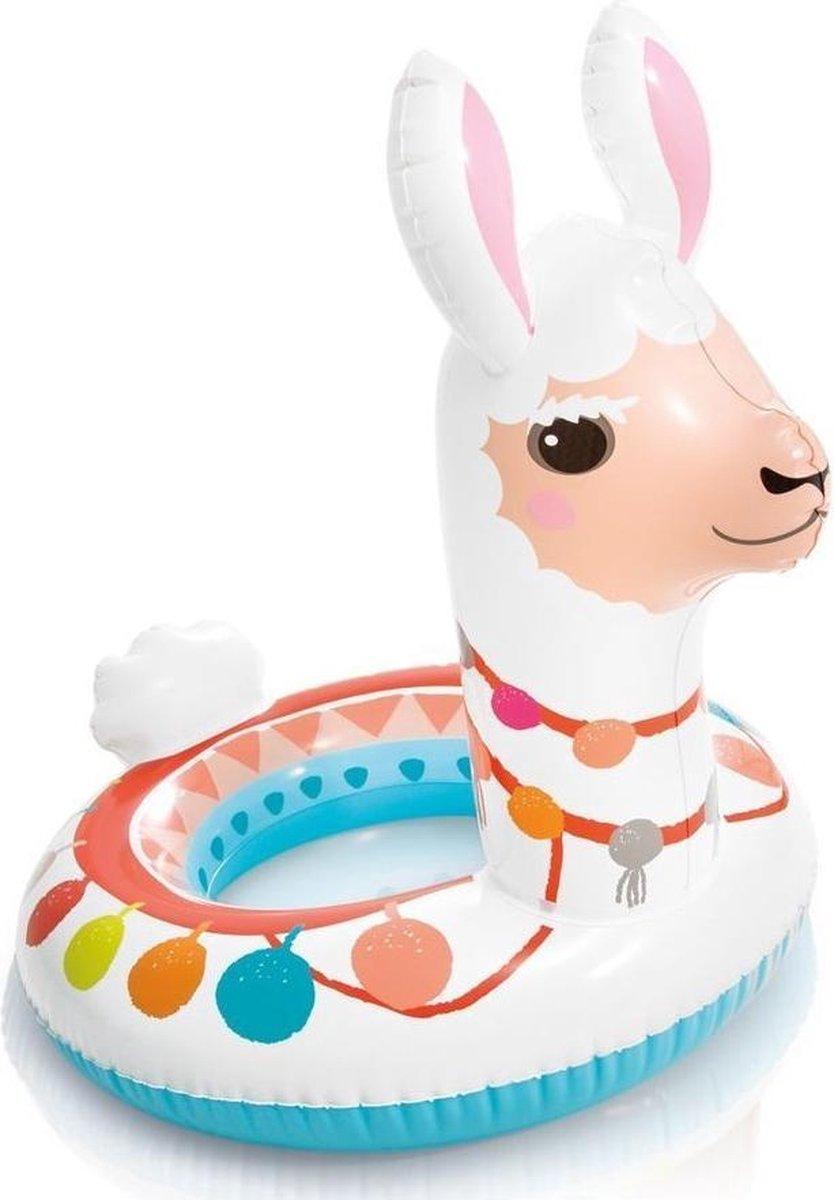 Opblaasbare alpaca zwemband 66 cm - Zwembenodigdheden - Zwemringen - Dieren thema - Alpaca zwembanden voor kinderen