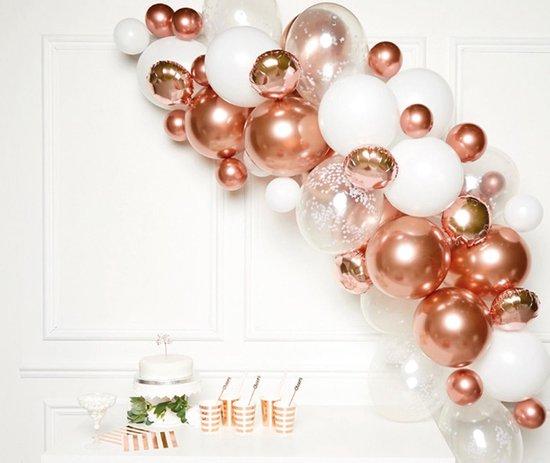 Amscan Ballonslinger Latex 1 Meter Rosegoud 66-delig