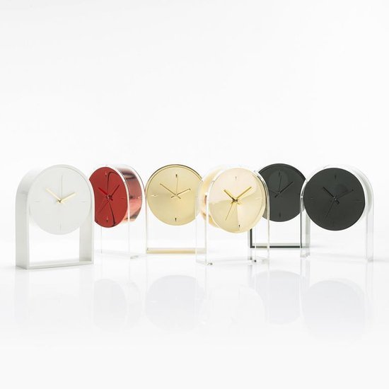 Kartell - Air du Temps Clock Transpartent /Cryst Black