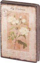 D8024-2 Dreamnotes notitieboek mijn Victoria: gele roos 14 x 21 cm