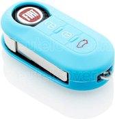 Fiat SleutelCover - Lichtblauw / Silicone sleutelhoesje / beschermhoesje autosleutel