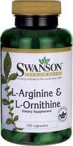 Swanson Health L-Arginine & L-Ornithine - Aminozuren - 100 capsules