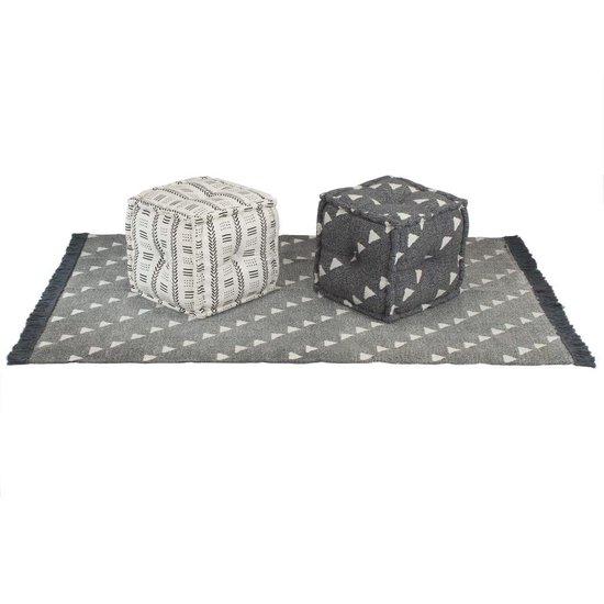 vidaXL Bankstel modulair stof gestreept 6-delig