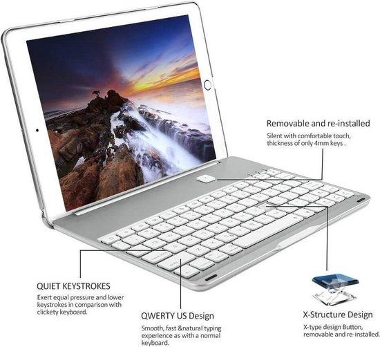 iPad Air 2 toetsenbord hoes zilver