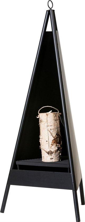 2L Home and Garden Tuinhaard TRIANGLE - gecoat matzwart metaal