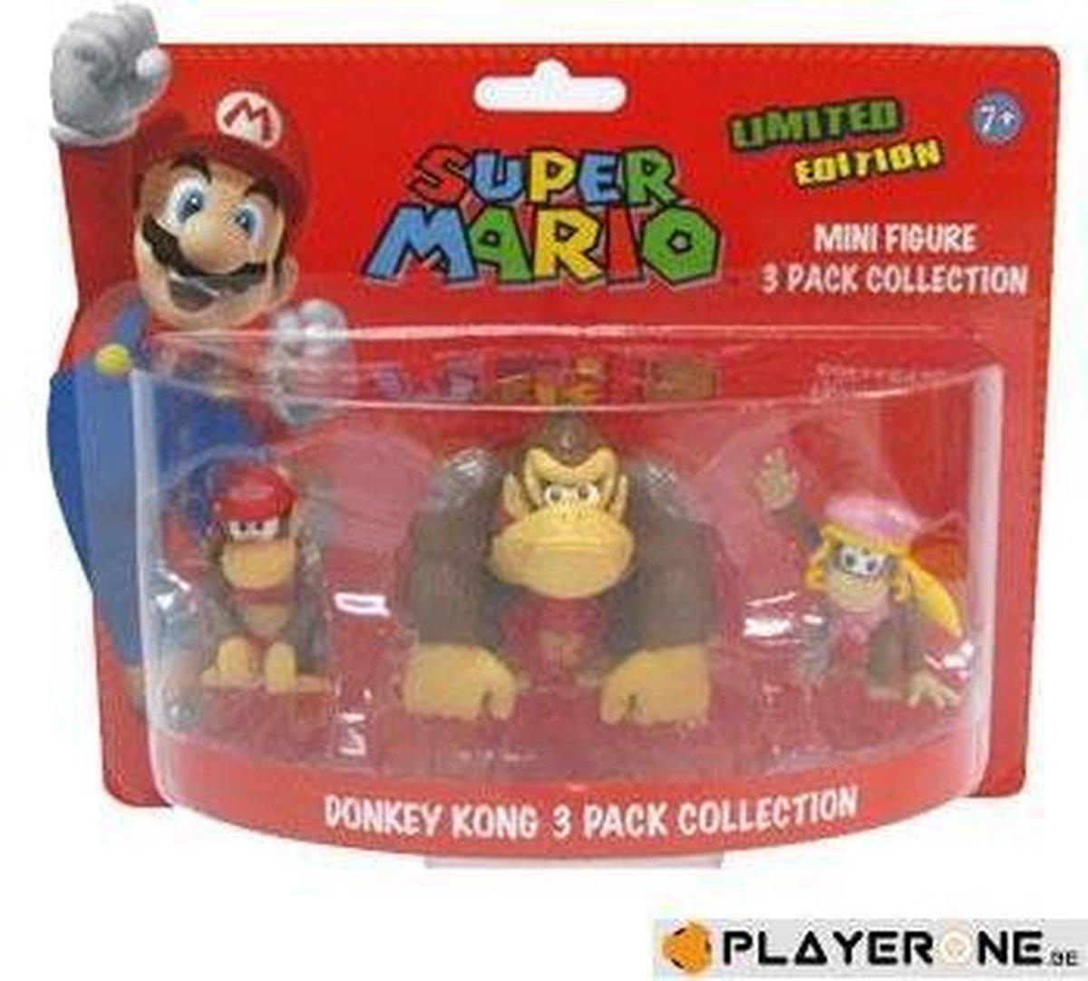 NINTENDO Donkey Kong, Diddy Kong, Dixie Kong mini figuren (limited Edition) - Merchandising