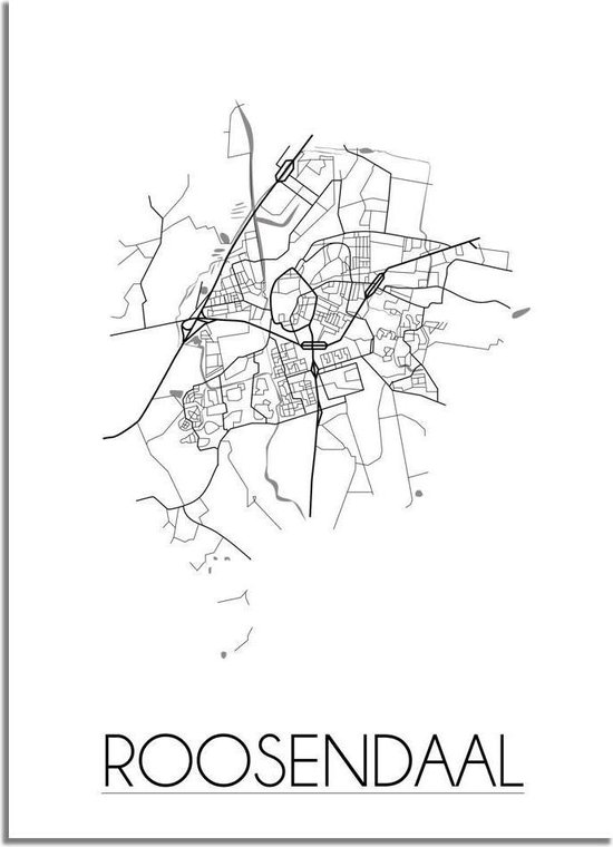 DesignClaud Roosendaal Plattegrond poster A4 poster (21x29,7cm)