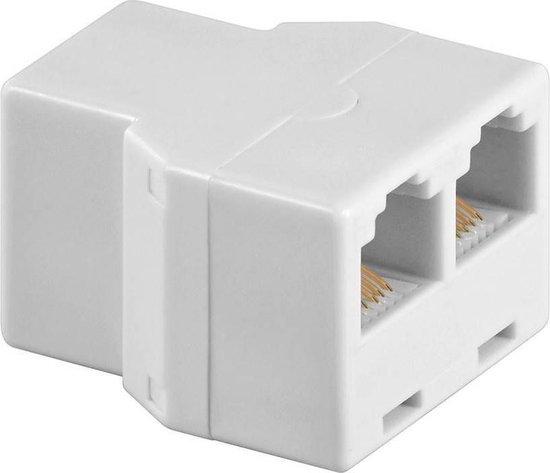 Goobay RJ12 (v) - 2x RJ12 (v) telefoon splitter / wit