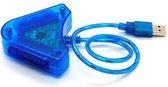 Coretek Duo USB adapter voor PlayStation 1 en 2 controllers - 0,30 meter