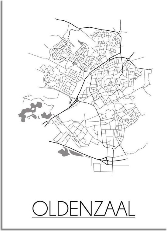 DesignClaud Oldenzaal Plattegrond poster A4 poster (21x29,7cm)