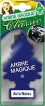 Arbre Magique Luchtverfrisser 12 X 7 Cm New Car  Blauw