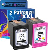PlatinumSerie® set 2 cartridges alternatief voor HP 300 XL black en color