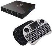 X96 Android Media TV Box Ultra HD 4K S905X Kodi 17.1 Android 6.0 - 2GB 16GB + GRATIS Rii i8 Wit draadloos toetsenbord