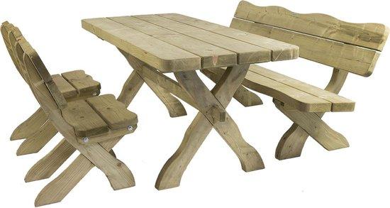 Uitgelezene bol.com | MaximaVida houten tuinset Provence 170 cm met 1 tafel 2 HK-38