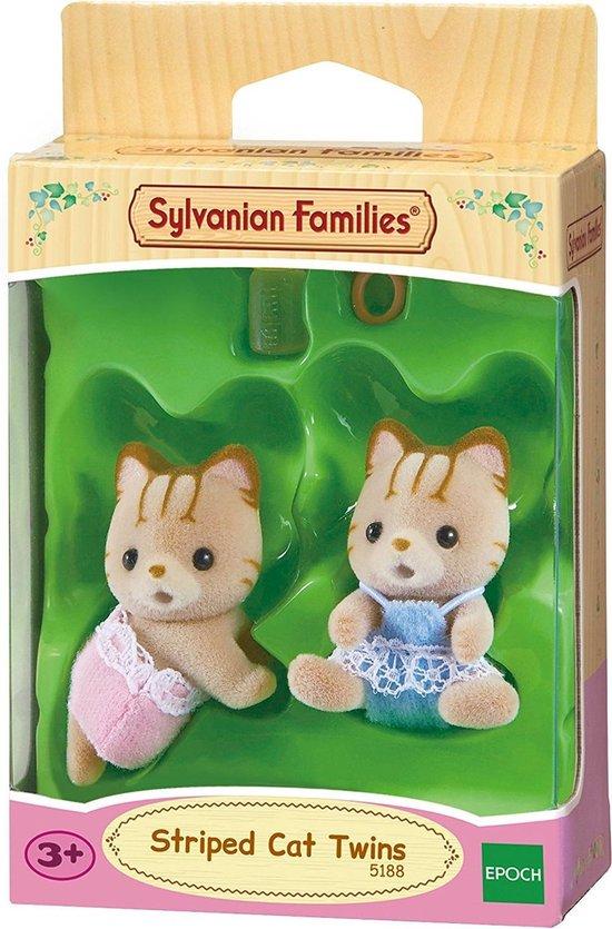 Sylvanian Families 5188 Tweeling Gestreepte Kat  - Speelfigurenset