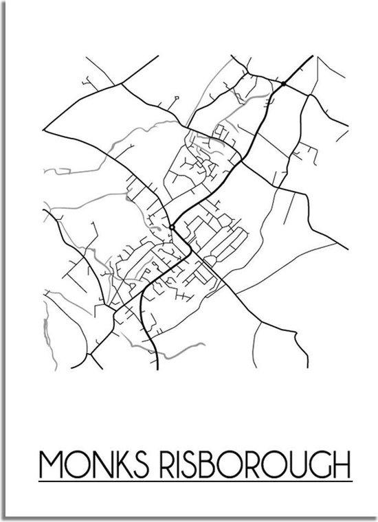 DesignClaud Monks Risborough Plattegrond poster A4 poster (21x29,7cm)