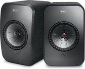 KEF LSX Wireless Stereo Speakers - Zwart ( prijs per set )
