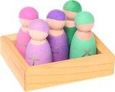 Grimms, 5 rekenvriendjes in een houten bakje
