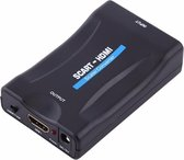 Dolphix Scart naar HDMI converter - voeding via USB / zwart