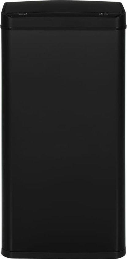 vidaXL Prullenbak met automatische sensor 80 L staal zwart