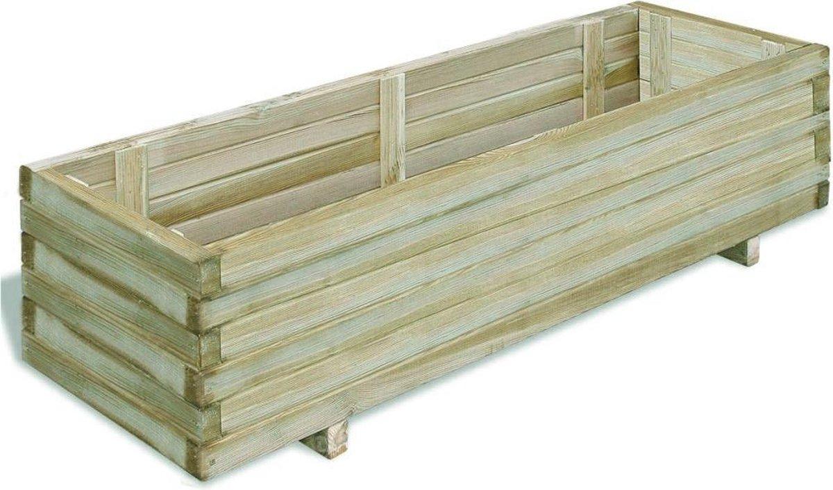 vidaXL Plantenbak rechthoekig 120x40x30 cm FSC hout - vidaXL