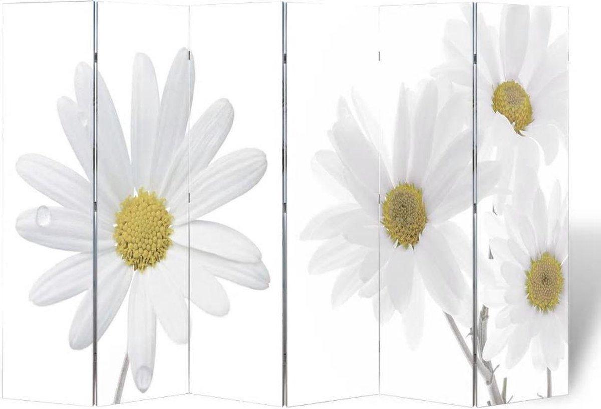 vidaXL Kamerverdeler inklapbaar bloem 240x170 cm - vidaXL