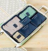 Packing cubes set - koffer of tas organizer - inpak zakken - donkerblauw