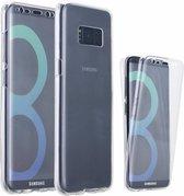 Shockproof Samsung Galaxy S8 Dual TPU Hoesje 360 Graden Cover 2 in 1 Case ( Voor en Achter) Transparant