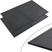 vidaXL Vloermat anti-slip 12 mm 1.2x0.8 m rubber kiezel