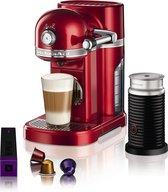 Nespresso KitchenAid 5KES0504 - Koffiecupmachine - Appelrood - inclusief melkopschuimer