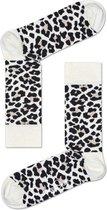 Happy Socks Leopard Sokken - Zwart/Wit - Maat 41-46
