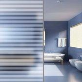 vidaXL Privacyfolie matte strepen zelfklevend 0.9x10 m