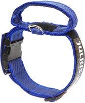 Julius K9  halsband  blauw 38-53 cm 40mm