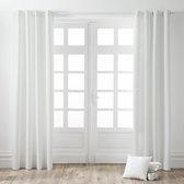 Kant en Klaar Gordijn - Lichtdoorlatend -  Wit - 140x260 cm