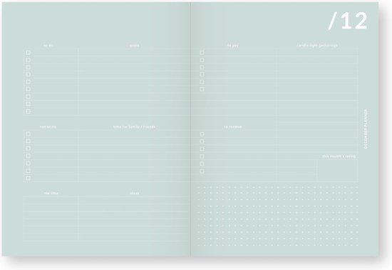 My Journal Agenda 2020 - Mintgroen